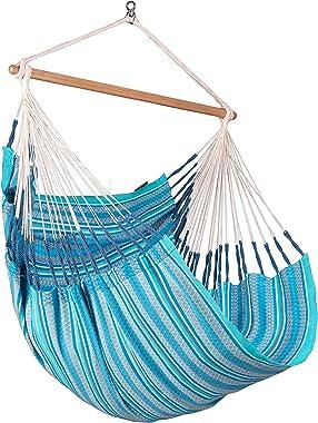 LA SIESTA Habana Azure - Organic Cotton Comfort Size Hammock Chair