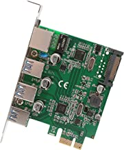 Syba SD-PEX50100 3 Port USB 3.1 Gen 1 and Gigabit Ethernet PCI-e 2.0 x1 Card