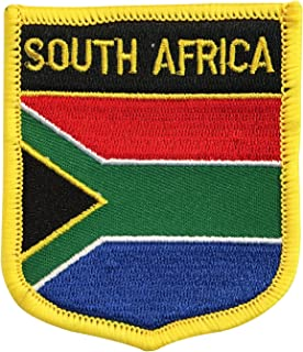 Republic of South Africa Flag Shield Morale Patch/Suid-Afrkia Embroidered Iron-On Patch (South African Crest, 2.75