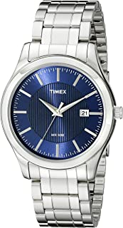 Timex Mens Quartz Watch, Analog Display and Stainless Steel Strap T2N976