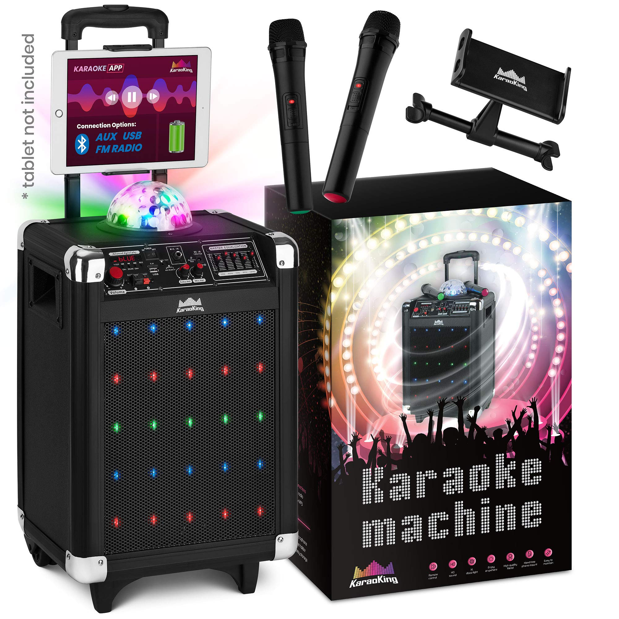 Karaoke Machine Kids Adults Microphones