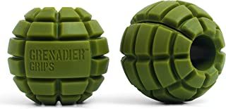 Grenadier Grips - Unique Fat Bar Dumbell/Barbell Grips for Huge Size Gains, Explosive Power, Increased Grip Strength, Arm ...