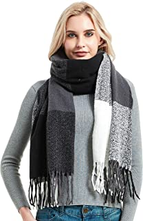 Sponsored Ad - Hutop Cashmere Plaid Scarf Stylish Tassels Winter Wrap Shawls Warm Super Soft Large Scarves Gifts for Women...