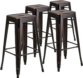 Flash Furniture 4 Pk. 30'' High Backless Distressed...