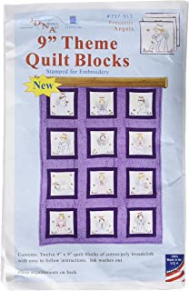 Jack Dempsey Needle Art 737913 Precious Angels Quilt Blocks, Approximate Finished Size: 48″ x 37″, White