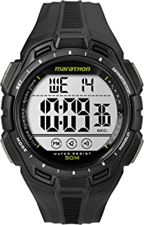 Marathon by Timex Men's TW5K94800 Digital Full-Size Black Resin Strap Watch