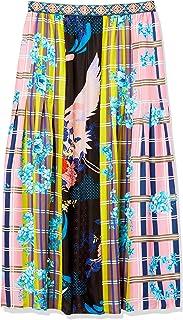 Women's Silk Printed Maxi Skirt