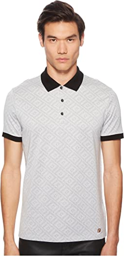 Versace Collection - Geo Jacquard Frame Print Polo