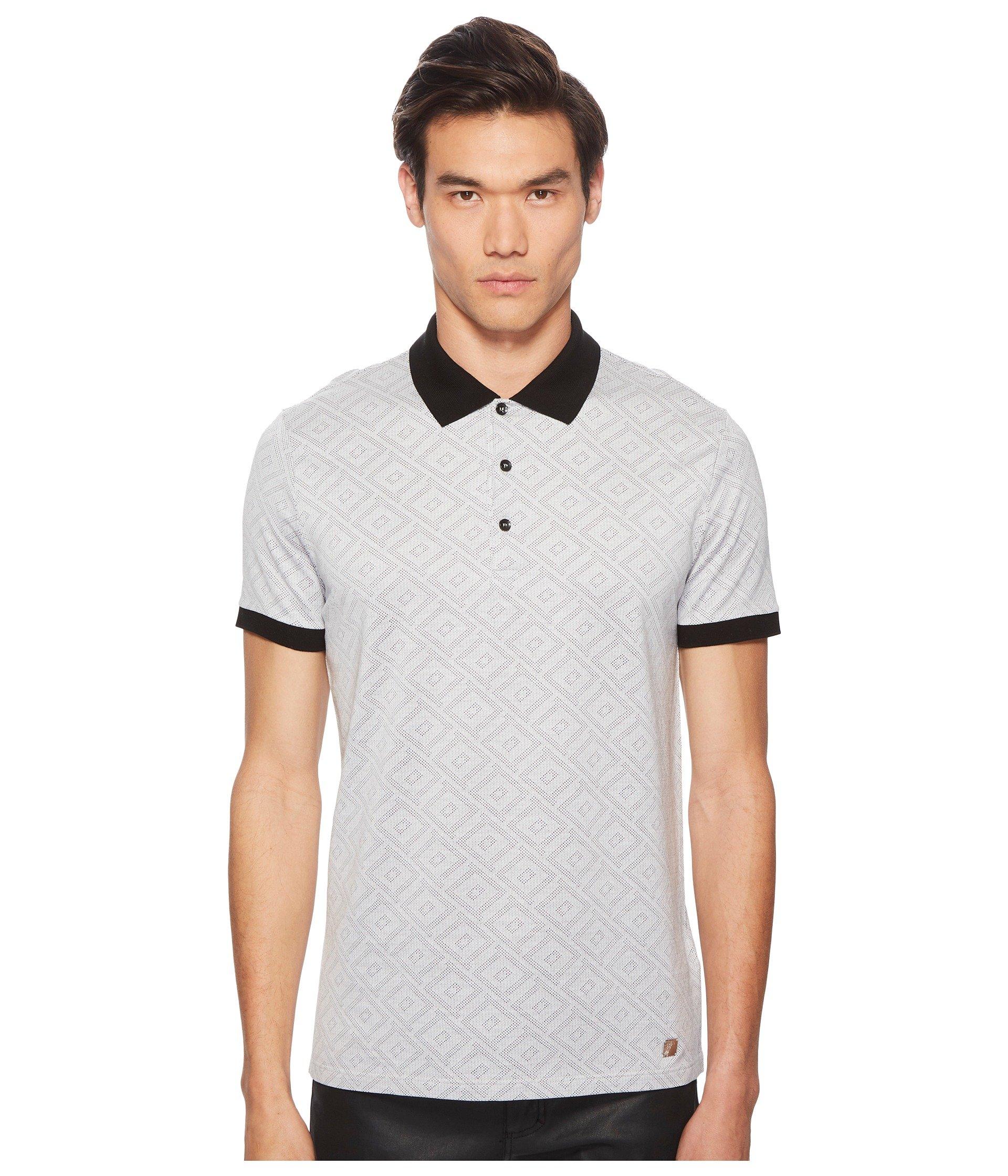 Camiseta Tipo Polo para Hombre Versace Collection Geo Jacquard Frame Print Polo  + Versace en VeoyCompro.net