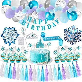 Pimp your Party! Frozen Princess complete Birthday Party Decoration Pack! Girls Princess themed Birthday Party Decorations...