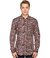 Just Cavalli - Slim Fit Swallow Print Shirt