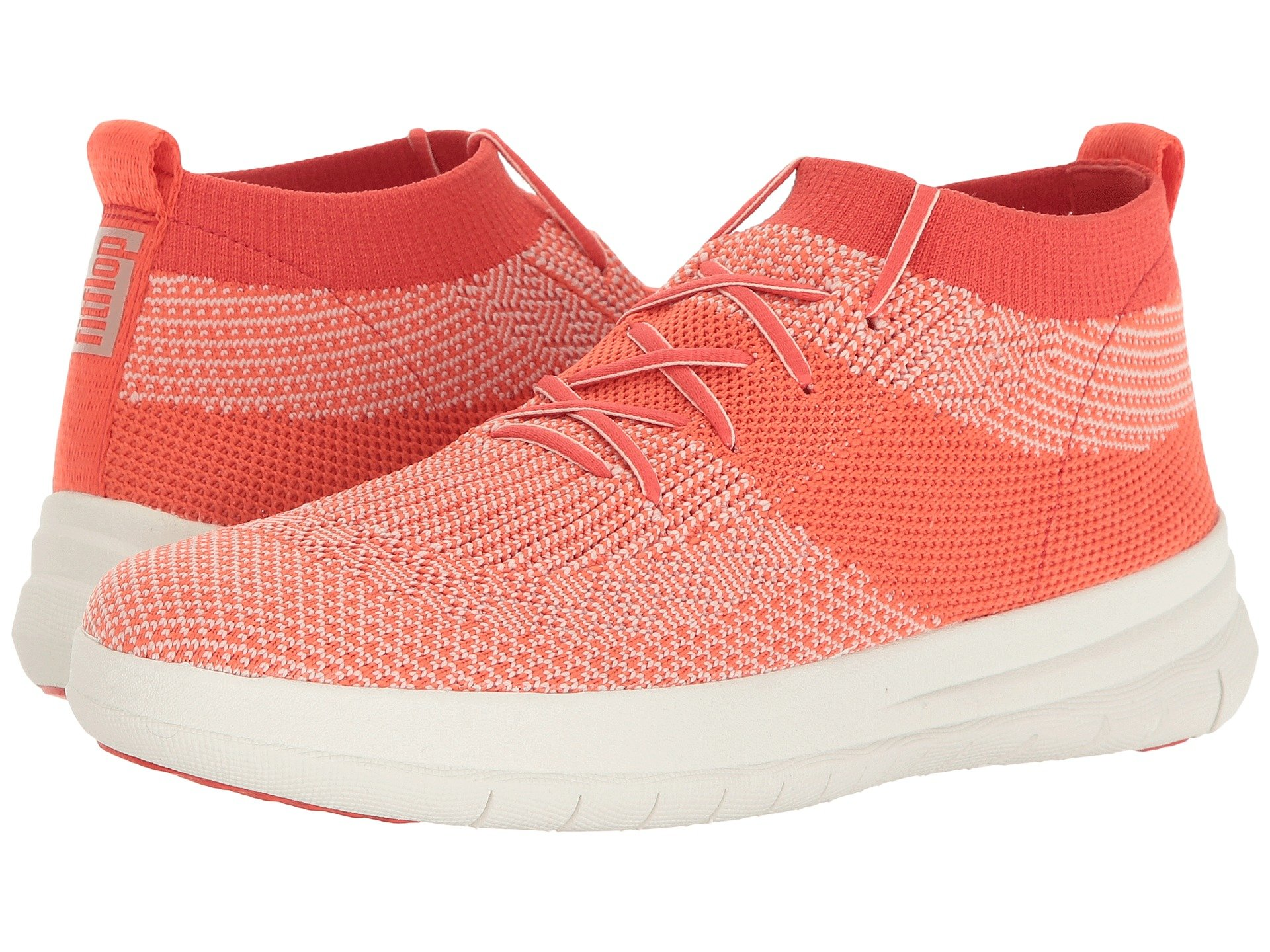19cc488d3196 Fitflop Uberknit Slip-On High-Top Sneaker In Hot Coral Neon Blush ...