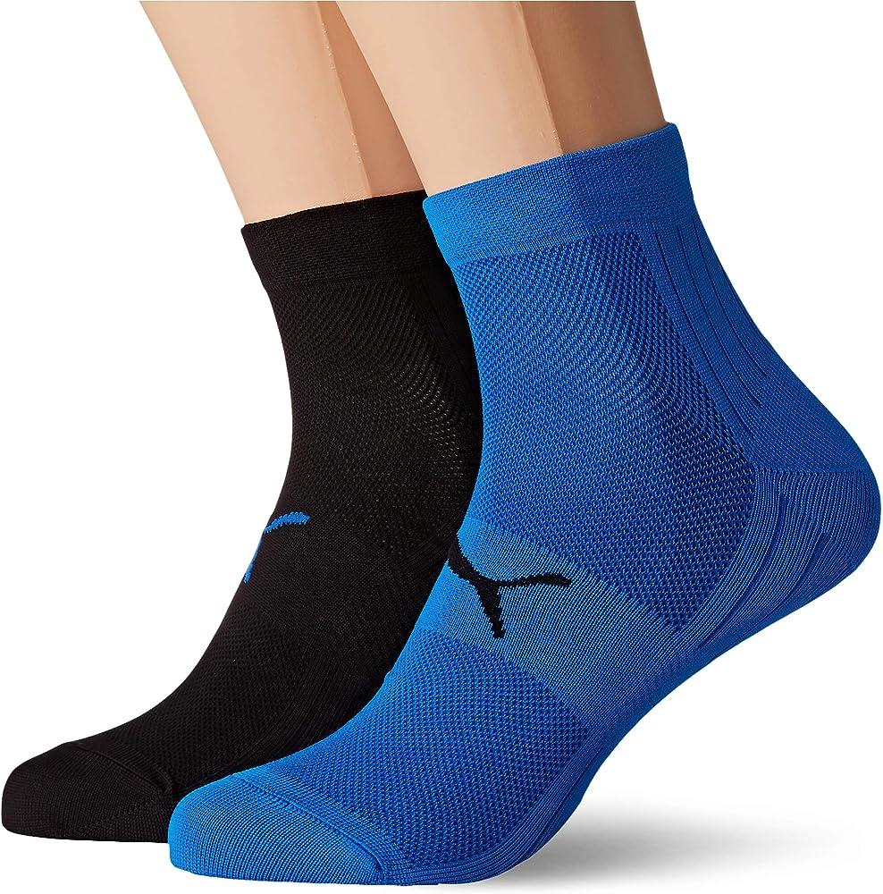 Puma,2 paia di calzini unisex,in microfibra,95% poliammide, 5% elastan 291003001