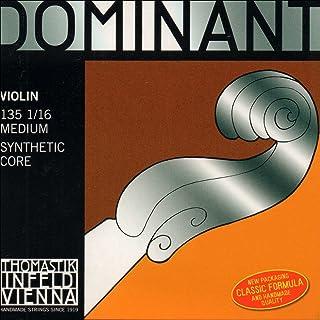 Thomastik Dominant 1/16 Violin String Set - Medium Gauge - Aluminum/Steel Ball-End E