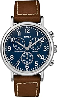 Timex Mens Quartz Watch, Chronograph Display And Leather Strap - TW2R42600