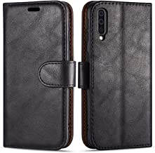 "Case Collection Premium Leather Folio Cover for Samsung Galaxy A70 Case (6.7"") Magnetic Closure Full Protection Book Design Wallet Flip with [Card Slots] and [Kickstand] for Samsung A70 Phone Case"