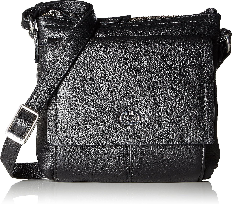 Gerry Weber Aragonien I Shoulderbag Svz, Women's CrossBody Bag, black (Black), 3.5x17.5x18 cm (B x H T)