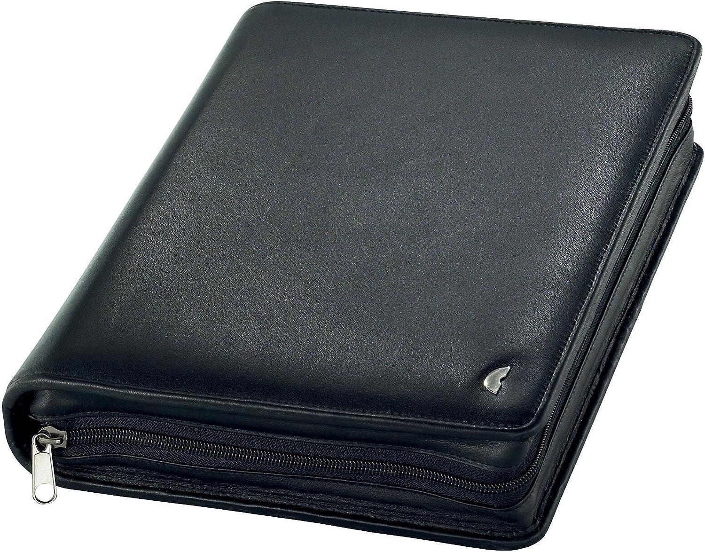 Chronoplan 50102 Organizer Rindnappaleder (Terminplaner A5 mit Reißverschluss) Ringbuch schwarz B0002S4NY4   Innovation