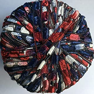 Berlini Ladder Ribbon Maxi Yarn #92 Americana 50 Gram 98 Yards Red White Blue