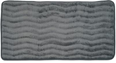 "Lavish Home Memory Foam 24 by 60-Inch Bath Mat, Microfiber Memory Foam; Polyurethane Backing, Platinum, 24"" x 60"""