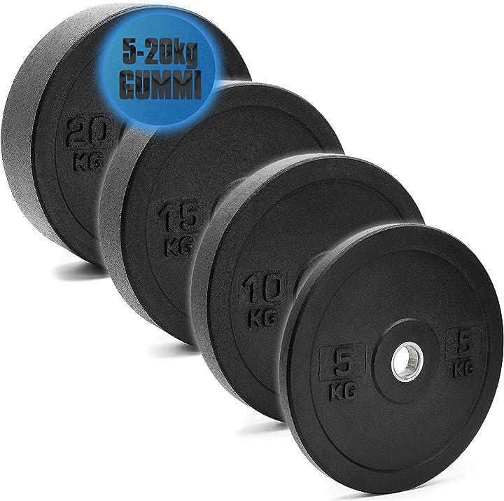 Dischi per bilancieri da 50 mm, in gomma piena c.p. sports B08CDXTJBL