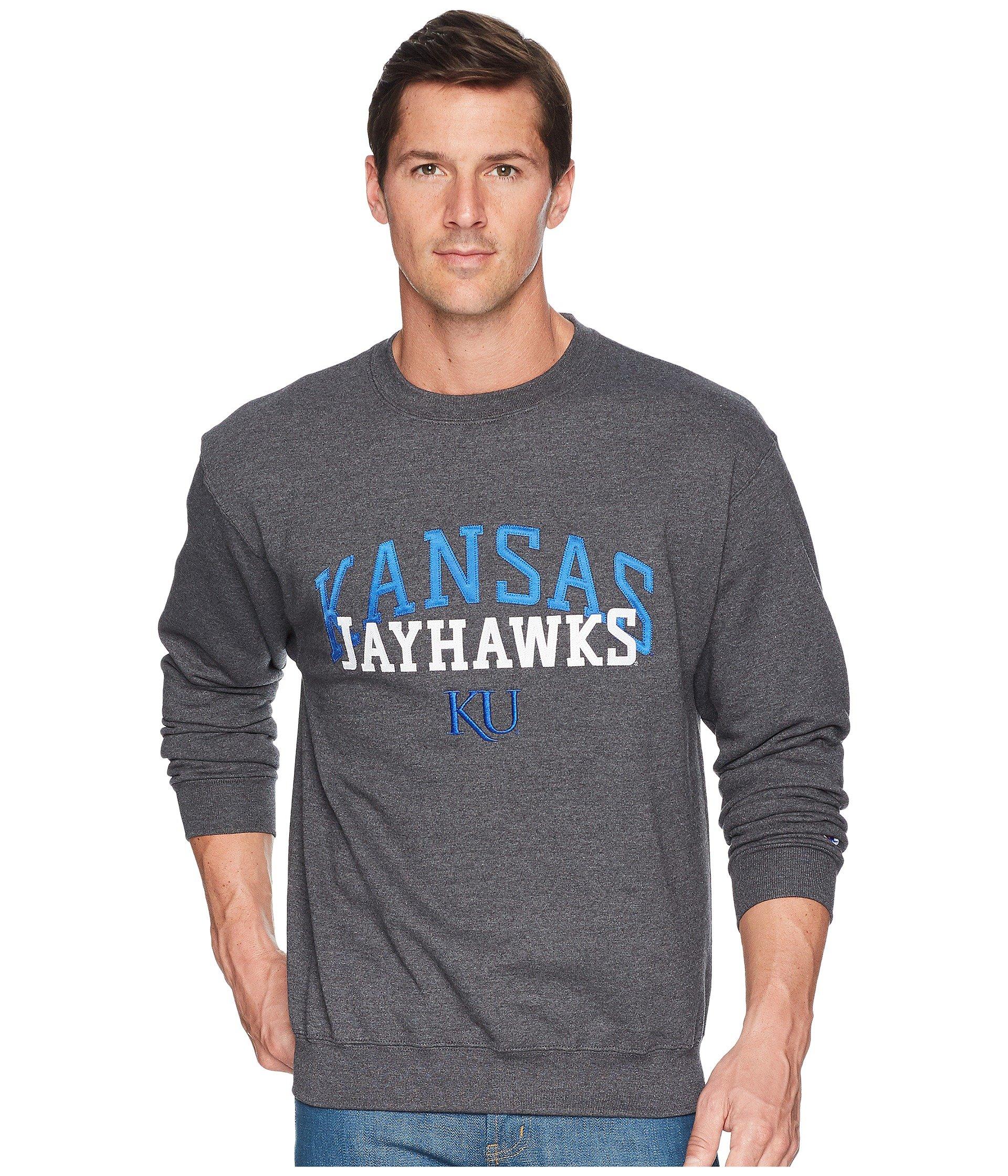 Buzo o Chaqueta Deportiva para Hombre Champion College Kansas Jayhawks Eco® Powerblend® Crew  + Champion en VeoyCompro.net