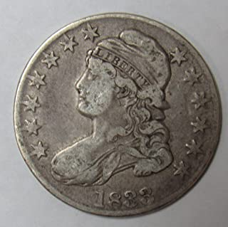 1833 Capped Bust Half Dollar 50c Very Fine O-105 R.2
