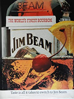 Jim Beam Whiskey,80's Color Illustration/Painting, Print Ad. 10 1/4
