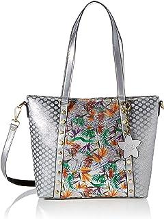 Laura Vita Womens 3513 Shopper, City Bag, Acier, Large