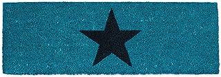 Relaxdays Felpudo Estrella para la Entrada del hogar, 1.5 x 75 x 25 cm, Fibra de Coco y PVC, Antideslizante, Color Azul, 1...