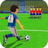 Shootout de coup franc de football de grève de football d'enfants