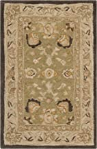 Safavieh Anatolia Collection AN512C Handmade Traditional Oriental Sage and Beige Premium Wool Area Rug (2' x 3')