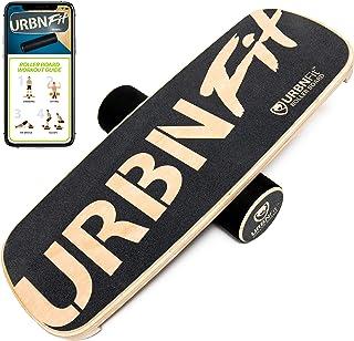 URBNFit Wooden Balance Board Trainer - Roller Board for Snowboard, Surf, Hockey Training & More -Balancing ...