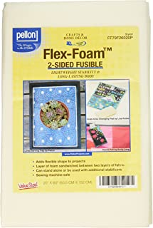 Pellon Flex-Foam 2-Sided Fusible Stabilizer-20-inch x 60-inch, Other, Multicoloured, 26.03x34.29x3.81 cm