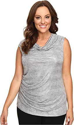 Plus Size Sleeveless Metallic Top