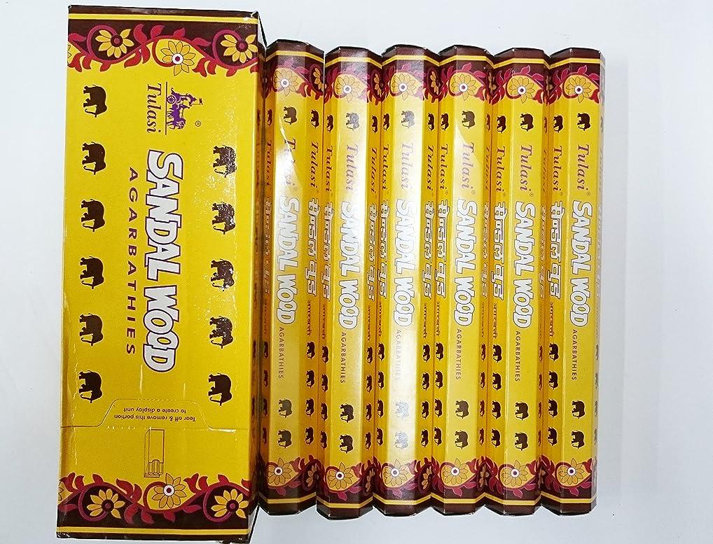 放牧する変動する側溝Tulasi サンダルウッド(SANDAL WOOD)香 スティック 6角(20本入り)×6箱 HEXAPACK