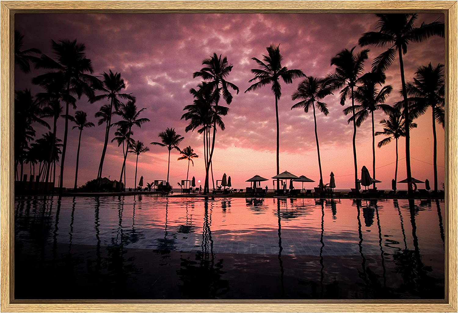 SIGNWIN Framed Canvas Wall 1 year warranty Art of Sunset Si Reflection Genuine Free Shipping Beautiful