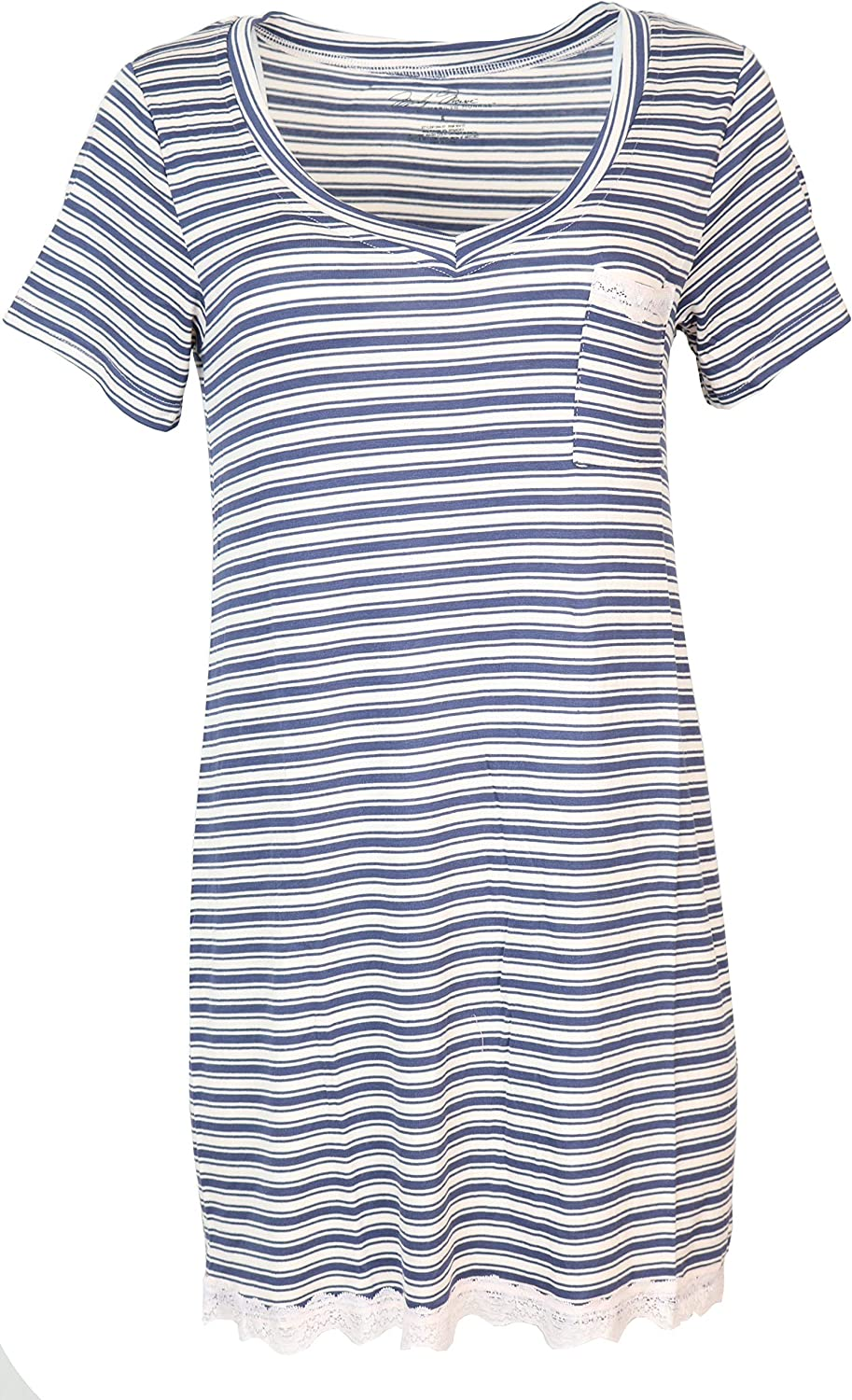 Marilyn Monroe Intimates セール特別価格 [ギフト/プレゼント/ご褒美] Women's Short Sleeve Nightgown with Poc