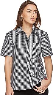 Calvin Klein Women's 8719113653-Black Shirts