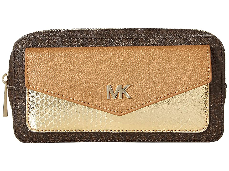 MICHAEL Michael Kors Logo PVC Belt Bag (Acorn) Women