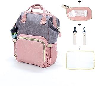 Mochila organizadora multifuncional impermeable para pañales. Capacidad para botellas de agua, alimentos para bebés, ropa y ordenador portátil.