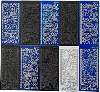 Uniporium Dazzles Stickers Collection | 300 Embossed Stickers of Polar Bears & Penguins in a Variety of Finishes & Colors for Scrapbooking, Card Making, Other Arts and Crafts Projects – 10 Sheets