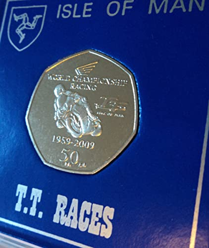 2009 Isle of Man IOM Motorcycle TT Races 50p Coin Present Display Gift Set