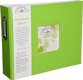 Doodlebug Design Storybook for Scrapbooking Album, 8 by 8-Inch, Limeade