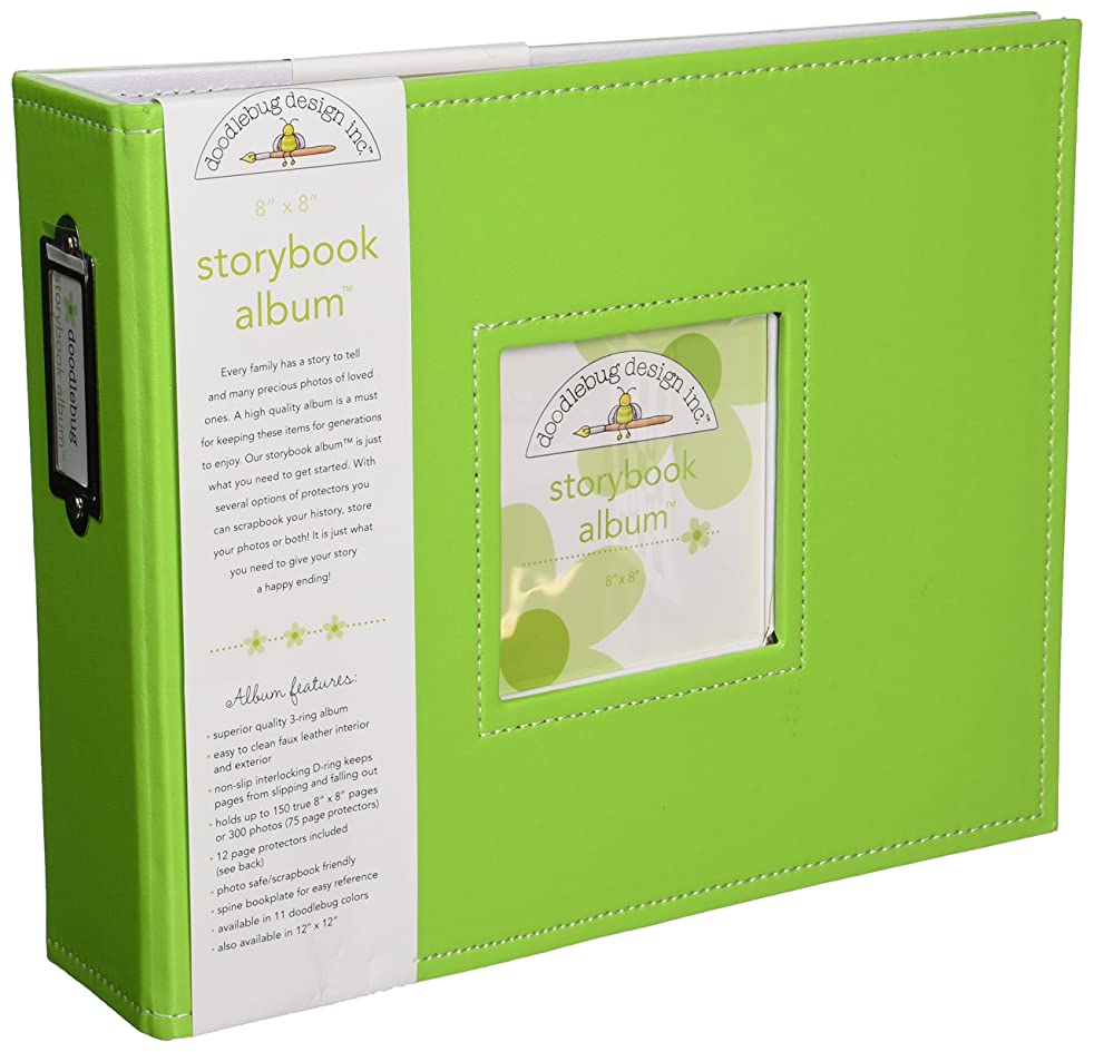 Doodlebug Design Storybook for Scrapbooking Album, 8 by 8-Inch, Limeade