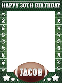 Football Birthday Party Photo Frame, Photo Booth Frame, Birthday Gift Ideas, Party Favors, Birthday Decorations, Selfie Photo Frame Party, Handmade Party Supplies Photo Size 24x36,48x36