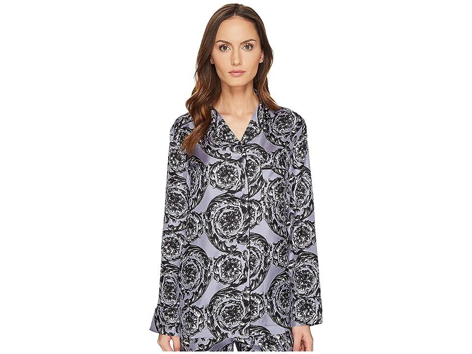 Versace Pigiama Camicia Pajama Button Up Shirt (Lilac) Women