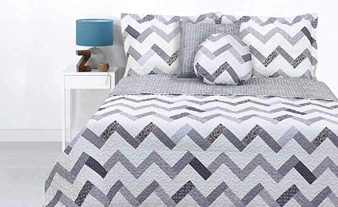 Lauren Taylor Rw101 950 102 090 6450 Rowan Collection Quilts King Gray Home Kitchen