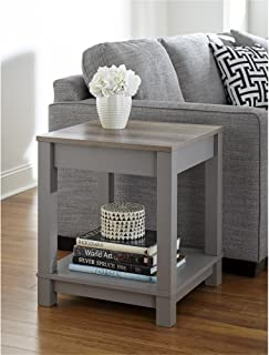 Ameriwood Home Carver End Table, Gray/Sonoma Oak
