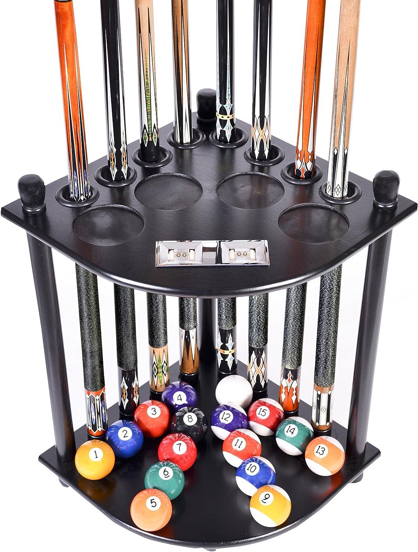 Alomejor Billiards Portable Pool Cue Stick Holder Stand Rest